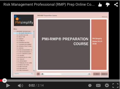PMI-RMP<sup>®</sup> Preparation Course